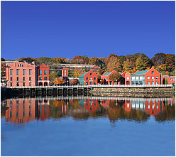 Westport, CT's west bank downtown